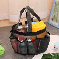 Unisex Portable Mesh Luggage Storage Bag Fashion Bath Swimming Shoes Bag Children's Transparent Multifunction Travel Wash Handbag Purse G7963U8