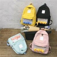 Gelbe koreanische Version von Harajuku Ulzzang niedlichen Enten transparent Rucksack