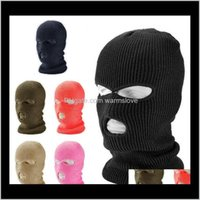 Cycling Caps Masks 3 Hole Ski Winter Cap Balaclava Hood Motorbike Motorcycle Full Face Helmet Army Tactical Mask Kyh0M Hsuqh