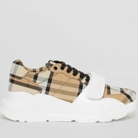 2021 Erkekler Tasarımcı Çizgili Ayakkabı Vintage Sneakers Deri Tıknaz Sneaker Kadın Sezon Shades Dantel-up Eğitmenler Platformu Rahat Ayakkabı ile Kutusu 281