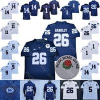 PSU Penn State Football Jersey NCAA College 14 Sean Clifford Saquon Barkley Noah Kain Trace Mcsorley Marcus Allen Jahan Dotson KCSORDRE LAMBERT-SMITH Frauen Jugend