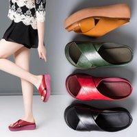 Sandals Women Soft Leather Wedges Shoes Woman Summer Beach Flip Flops Platform Sandalias Mujer Wedge Heels