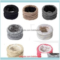Wraps Hats, & Gloves Fashion Aessories Womens Knitted Winter Warm Plus Veet Thicken Cotton Ring Scarves Adult Children Loop Scarf Girls Unis