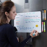 Fridge Magnets A5 Magnetic Whiteboard Dry Wipe White Board Marker Writing Record Message Remind Memo Pad Kid Gift Kitchen