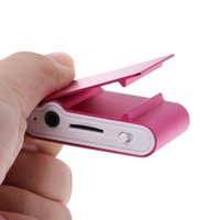 MX-801 Mini USB Metal Clip Micro SD TF Card Slot LCD Tela Música Música MP3 Player N84A MP4 Jogadores