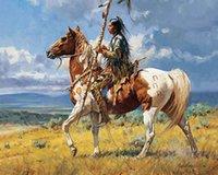 Копья лошадь огромная живопись маслом на холсте домашний декор ремезинс / HD печати настенные картинки настроен на заказ допустимы 21060212