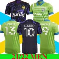 2021 2022 سياتل Sounders FC Home Away Soccer Jerseys MLS 21 22 Ruidiaz Morris Dempsey Torres Football Shirts Roldan Montero Lodeiro 88