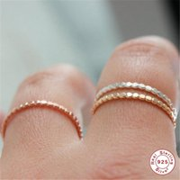 Cluster Rings Aide 925 Sterling Silver For Women Slim Stacking Beaded Wedding Band Eternity Ring Finger Jewelry Anillos