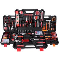 Professional Hand Tool Sets Household Set Car Repair Ratchet Wrench Socket Pliers Knife Screwdriver Electrician Kit Combination Toolbox