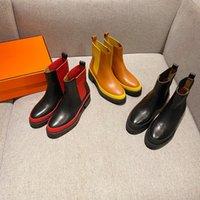 2021 أوروبا وأمريكا أبازيم سيدة مارتن الأحذية جلد طبيعي كيلي المرأة مستقيم الحذاء فارس chaussure