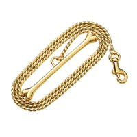 10mm Gold Dog snake chain rope Strong Stainless Steel Necklace For Medium or Small Choker Pet Collars