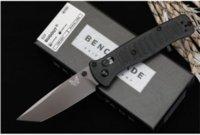 Benchmade 537 Cuchillo plegable High Durness D2 Material de la cuchilla Nylon Glass Fibra Handle Specal Defensa de autodefensa Cuchillos de bolsillo EDC Herramienta HW472