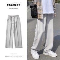 Pantaloni a gamba larga di estate primavera Mens Moda con scolloraggio Casual Pantaloni casual da uomo Streetwear Pantaloni coreani-gamba dritta Abito da uomo
