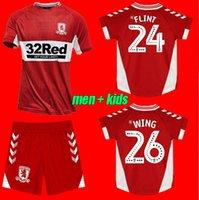 Homens Crianças 2021 2022 Middlesbrough Jersey 21 22 Ashley Michael Fletcher Flint Wing Assombalonga Tailândia Camisas de futebol