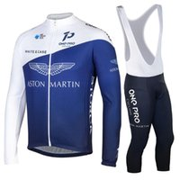 Ensembles de course Aston Martin Winter Formation à manches longues Jersey Man Road Cyclisme Vêtements de vélo Maillot Vélo Ensemble Vélo Vélo MTB Kleding Heren