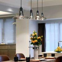 2021 البساطة الحديثة الإبداعية led مطعم مقهى gu10 قلادة مصباح جودة عالية زجاج الفن المنزل غرفة نوم السرير مصابيح الإضاءة