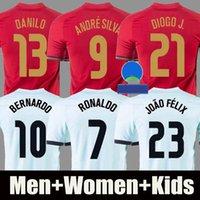 2021 RONALDO Portekiz futbol formaları JOAO FELIX NEVES BERNARDO B. FERNANDES CANCELO RUBEN DIOGO J. 2021 milli takım Erkek + Çocuk forması forması