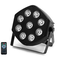 RGBW 9 LEDs PAR ضوء تأثير الضوء الإضاءة مع التحكم عن بعد 7ch DMX التحكم في الصوت ل DJ Club Party Show