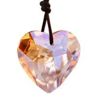 HD 1 PC Okno Wiszące Kryształ Heart Prisms Suncatcher Rainbow Dla Home Ogrodowy Dekoracje Ślubne Boże Narodzenie ślubne (Szampan) Dekoracje