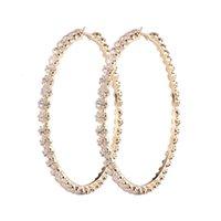 2021 Nouveau Style à la mode Rihanna Grand Grand Grand Boucles d'oreilles Diamant Gold Plated Diamond