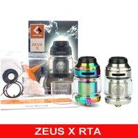 Zeus X RTA 25mm Atomizer 4.5ml Tank with Clapton Coil Vape Cotton 810 Drip Tip Airflow Leakproof for 510 Vaporizer Mod