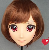 Máscaras de festa (lanmei-03) fêmea menina doce resina meia cabeça kigurumi crossdress cosplay japonês anime funde lolita boneca máscara com olhos e peruca