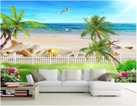 Wallpapers Custom Mural Po 3d Wallpaper Ocean Beach With Beautiful Sea View Room Decor Painting Wall Murals For 3 D
