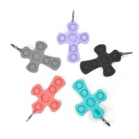 Cross Silicone Case AirTag Protective Cover Shell with Key Ring for Apple Airtags Smart Bluetooth Wireless Tracker Anti-lost