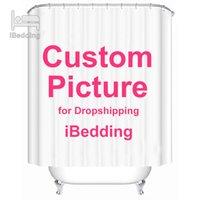 Ibedding Özel Duş Perdesi Banyo Su Geçirmez Perdeler Özelleştirilmiş Fotoğraf Polyester Banyo Dekor ile Kanca Pod Dropshipping 210421