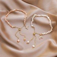 Gioielli per le donne Madreperla Farfalla Set di nozze Set di orecchini Collana Braccialetto Braccialetto perline, Fili 3681 Q2