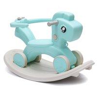 2 in 1 Toddler Little Rocking Horse Baby Walker Ride On Toy Kids Rocker Small Household Kindergarten Chair Supplies
