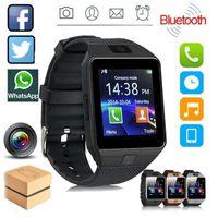 New Smart Watch Men Women DZ09 Bracelet Wristband SIM Electronics Intelligent Relógio Inteligente Sport Watches for Android IOS Cellphones vs T500 q18 G20 116Plus