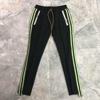 Pantalon de latéral athlétique hip hop hip hop bandoulière décontractée pantalons de jogging sport arborlailleur mâle taille élastique couleur solide stérilie pavé de survêtement