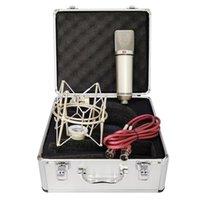 Mikrofonlar U87 Mikrofon Kondenser Profesyonel Stüdyo Bilgisayar Vokal Kayıt PC için Büyük Diyafram Podcast Oyun Tiktok DJ