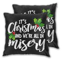 رمي حالة الوسائد الحالة عيد الميلاد ونحن جميعا في البؤس أريكة وسادة الزخرفية وسادة غطاء وسادة / ديكور