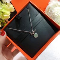 High Quality lady round Pendant Necklaces Jewelry Luxury imitation Necklaces for women's Jewelry Necklace Designer Metal Design bags Necklace Lover womens Gifts