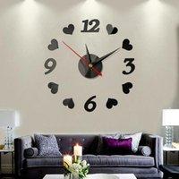 Diy 3D Wall Clock Creative Mirror Stickers Watch Modern Quartz Clocks Live Room Horloge Home Decor