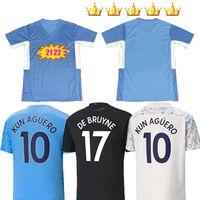 Manchester Soccer Jersey 20 21 22 G. Jesús City Sterling Ferran de Bruyne Kun Agüero 2021 2022 Camisetas de fútbol 2021-22 Hombre Uniforme Hombres + Kit Kids