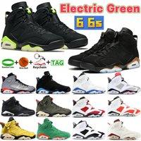ارتفاع 6 6S أحذية كرة السلة الخضراء الكهربائية الصبار البريطانية الكاكي DMP UNC أسود الأشعة تحت الحمراء الرياضة سنيكرز البديل هير كرمين عداء المدربين