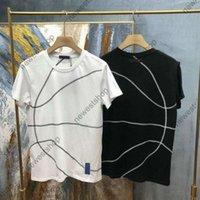 Yaz Lüks Tasarımcı Mens T Gömlek Giyim Tshirt Geometrik Hatları Baskı T Shirt İşbirliği T Gömlek Yüksek Kalite Rahat Tops Tee