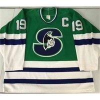 88888Rare Hóquei Jersey Homens Juventude Mulheres Vintage Personalizar AHL Springfield 1990-93 Picard Tamanho S-5XL Personalizado Qualquer nome ou número