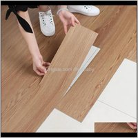 Wall Décor & Garden Drop Delivery 2021 Pvc Wood Self-Adhesive Plastic Floor Stickers Wear-Resistant Waterproof Embellishment Decoration Home