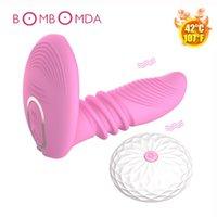 Vibromasseurs Chauffage Dildo Vibrateur Porterable G-Spot Massage USB Chargement de la télécommande sans fil Clitoris Stimulateur adulte jouets pour femmes