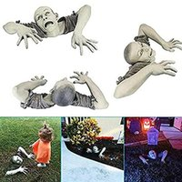 Garden Decorations Halloween Zombie Statue Decoration Horror Sculpture Not Deform Fade Home Outdoor