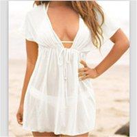 Women Beach Dress Swimsuit Cover Up Swimwear Kaftan Towel Plus Size Bikini Sheer Swim Suit Women's