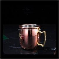 الأطباق الأطباق أواني الفولاذ المقاوم للصدأ كوكتيل بغل موسكو s البسيطة النبيذ البيرة النحاس كوب الإبداعية أطفال أكواب حليب CLS643 OB1KQ AS2VF