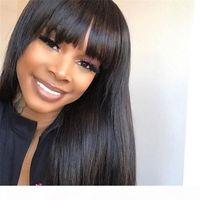Longo sedoso retardo completo lacrewig peruano cabelo humano lace peruca dianteira com parte intermediária letreiro natural para mulheres negras