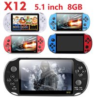 X12 Handheld Game Players 8GB Memory Portable Video Game Consoles with 5.1 inch Support TF Card 32gb MP3 MP4 Player good quality