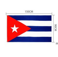 Cuba Cuba Flags País Bandeira Nacional 3'X5'FT 100D Poliéster de alta qualidade com dois gêneros de latão HWD8952
