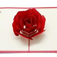 3D Gül Tebrik Kartları Sevgililer Günü Tebrik Kartı Yaratıcı El Yapımı Sevgililer Günleri Hediyeler Kadınlar Için GWA6249